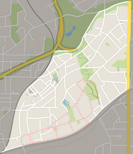 Streets in Atlanta's Inman Park neighborhoods that I've run so far.